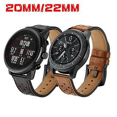voordelige Smartwatch-accessoires-Horlogeband voor Gear S3 Frontier / Gear S3 Classic / Gear S2 Classic Samsung Galaxy / Huawei / Motorola Klassieke gesp Echt leer Polsband