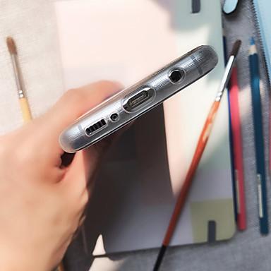 Недорогие Чехлы и кейсы для Galaxy S6 Edge-Кейс для Назначение SSamsung Galaxy S8 Plus / S8 / S7 edge Защита от пыли / Полупрозрачный / С узором Кейс на заднюю панель Животное ТПУ