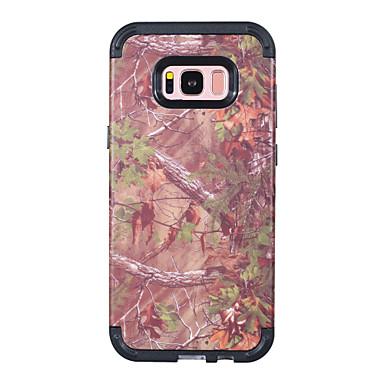 voordelige Galaxy S-serie hoesjes / covers-hoesje Voor Samsung Galaxy S8 Plus Schokbestendig Achterkant Houtnerf / Landschap / Boom PC