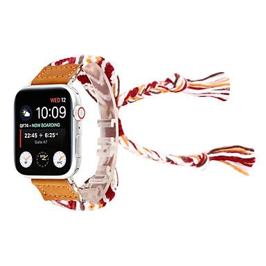 Недорогие Ремешки для Apple Watch-вязаный браслет из шерсти ручной работы браслет наручные часы для яблок часы 38 / 40мм 42 / 44мм серия 4 3 2 1 национальный ветер ручной ремешок для часов