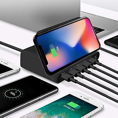 Недорогие Гаджеты для Samsung-10 Вт ци беспроводное зарядное устройство для iphone X XS Max Multi USB быстрая зарядка 3.0 быстрая зарядка для Samsung S9 S8