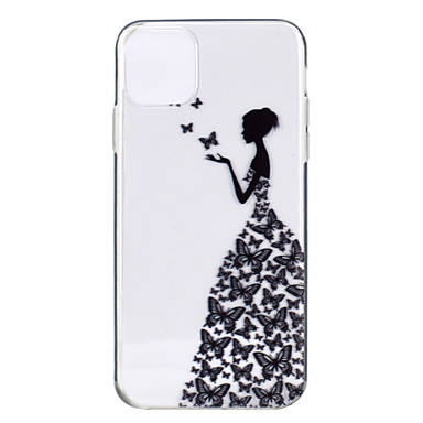 voordelige iPhone-hoesjes-hoesje voor Apple iPhone 11 / iPhone 11 Pro / iPhone 11 Pro Max Ultradun / Transparant / Patroon Achterkant Sexy Lady TPU Soft