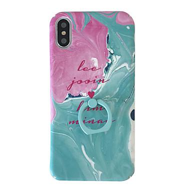 Недорогие Кейсы для iPhone-Кейс для Назначение Apple iPhone XS / iPhone XR / iPhone XS Max Спиннеры от стресса / Защита от пыли / со стендом Кейс на заднюю панель Полосы / волосы / Мультипликация ТПУ
