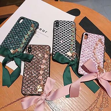 voordelige iPhone X hoesjes-hoesje voor apple iphone xs / iphone xr / iphone xs / x / 6splus / 7 8plus max schokbestendig / strass / armband achterkant hart acryl