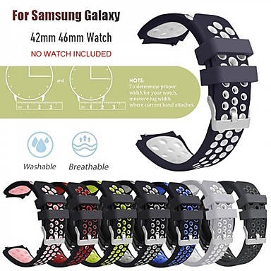 cheap Smartwatch Accessories-Watch Band for Samsung Galaxy Watch 46mm / Samsung Galaxy Watch 42mm Samsung Galaxy Classic Buckle Silicone Wrist Strap