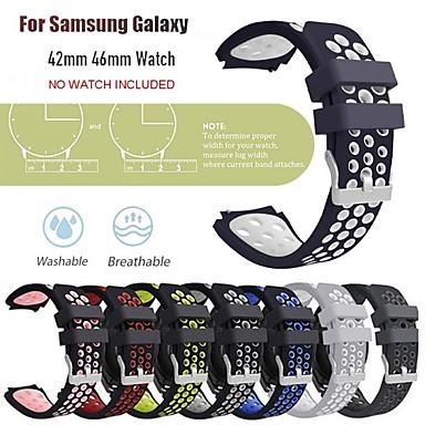 Недорогие Аксессуары для смарт-часов-Ремешок для часов для Samsung Galaxy Watch 46 / Samsung Galaxy Watch 42 Samsung Galaxy Классическая застежка силиконовый Повязка на запястье