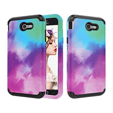 voordelige Galaxy J-serie hoesjes / covers-hoesje Voor Samsung Galaxy J7 / J3 (2018) / J3 Schokbestendig Achterkant Kleurgradatie PC
