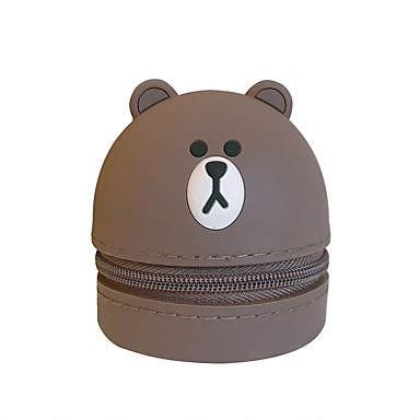 voordelige Universele hoesjes & tasjes-draagbare portemonnee draagbare hoofdtelefoon opbergtas leuke cartoon siliconen 1 item