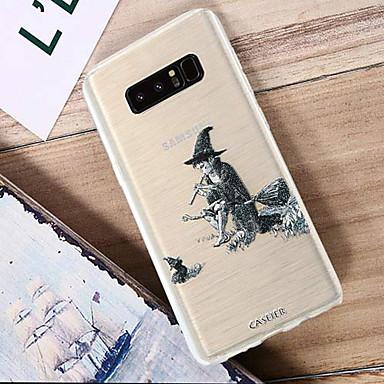 Недорогие Чехлы и кейсы для Galaxy S6 Edge-Кейс для Назначение SSamsung Galaxy S8 Plus / S8 / S7 edge Водонепроницаемый / Защита от пыли / Полупрозрачный Кейс на заднюю панель Мультипликация ТПУ