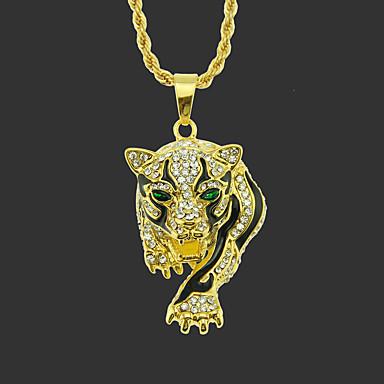 voordelige Heren Ketting-Heren Hangertjes ketting lange ketting Klassiek Tiger Uniek ontwerp Modieus Verguld Kromi Goud Zilver 75 cm Kettingen Sieraden 1pc Voor Straat