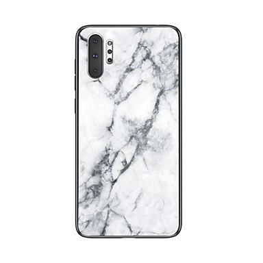 voordelige Galaxy Note-serie hoesjes / covers-schokbestendig marmer gehard glas tpu frame case voor samsung galaxy note 10 plus note 10 note 9 note 8