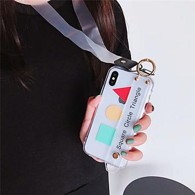 voordelige iPhone X hoesjes-hoesje voor Apple iPhone XS Max / iPhone 8 plus stofdicht / armband / patroon achterkant geometrisch patroon zachte TPU voor iPhone 7/7 plus / 8/6/6 plus / xr / x / xs