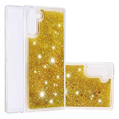 voordelige Galaxy Note-serie hoesjes / covers-hoesje Voor Samsung Galaxy Note 8 / Galaxy Note 10 / Galaxy Note 10 Plus Schokbestendig / Stromende vloeistof Achterkant Glitterglans TPU