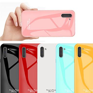 voordelige Galaxy Note-serie hoesjes / covers-schokbestendig gehard glazen telefoonhoesje voor Samsung Galaxy Note 10 plus Note 10 beschermhoes voor Galaxy Note 9 Note 8 siliconen TPU bumperrand