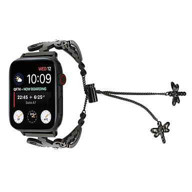 tanie Opaski do Apple Watch-diamentowa bransoletka dla kobiet do zegarka jabłkowego 38 / 40mm 42 / 44mm łańcuch ważki zegarek ze stali nierdzewnej pasek drążący bransoletka seria 4 3 2 1
