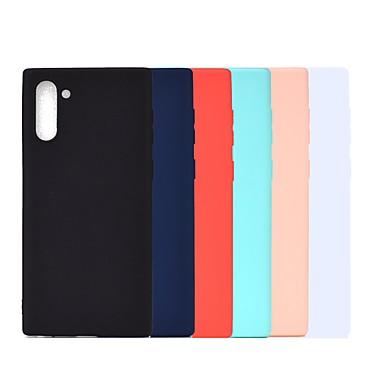 voordelige Galaxy Note-serie hoesjes / covers-hoesje Voor Samsung Galaxy Note 9 / Note 8 / Galaxy Note 10 Schokbestendig / Mat Achterkant Effen TPU
