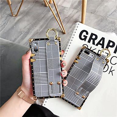 voordelige iPhone-hoesjes-hoesje voor Apple iPhone XS Max / iPhone 8 plus stofdicht / met standaard / armband achterkant geometrisch patroon zachte TPU voor iPhone 7/7 plus / 8/6/6 plus / xr / x / xs