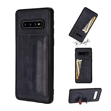 voordelige Galaxy Note-serie hoesjes / covers-hoesje Voor Samsung Galaxy Note 9 / Note 8 / Galaxy Note 10 Kaarthouder / met standaard Achterkant Effen PU-nahka