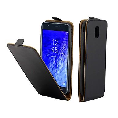 voordelige Galaxy J-serie hoesjes / covers-hoesje Voor Samsung Galaxy J7 (2017) / J5 (2017) / J3 (2017) Kaarthouder / Flip Volledig hoesje Effen PU-nahka