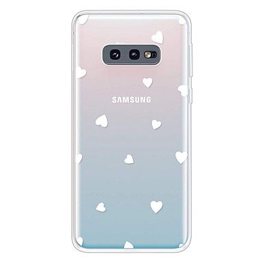 voordelige Galaxy S-serie hoesjes / covers-hoesje Voor Samsung Galaxy Galaxy S10 / Galaxy S10 Plus / Galaxy S10 E Ultradun / Transparant / Patroon Achterkant Hart TPU