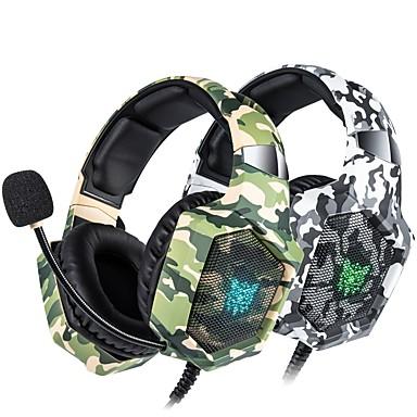 voordelige Gaming-oordopjes-litbest ps4 headset camouflage casque bedrade pc gamer stereo gaming hoofdtelefoon met microfoon led-verlichting voor xbox one / laptop