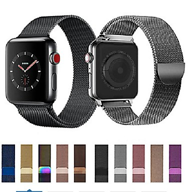 cheap Smartwatch Accessories-Milanese Loop For Apple Watch band strap 44mm/40mm/42mm/38mm iwatch5/4/3/2/1Stainless Steel Link Bracelet wrist watchband magnetic buckle