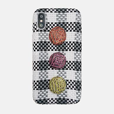voordelige iPhone X hoesjes-hoesje Voor Apple iPhone XS / iPhone XR / iPhone XS Max Ultradun / Patroon Achterkant Pluche tekstiili / PC