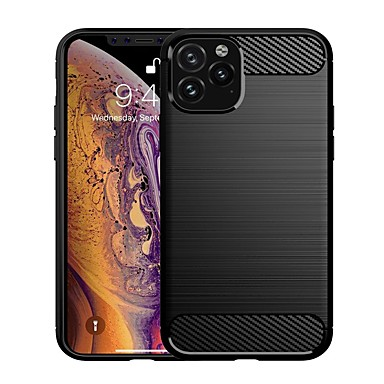 voordelige iPhone-hoesjes-hoesje voor iphone 11 / iphone 11 pro / iphone 11 pro max schokbestendig / ultradunne achterkant hoesjes tpu / koolstofvezel hoesje voor iphone xs max / xr / xs / x / iphone 8 plus / iphone 7 plus /