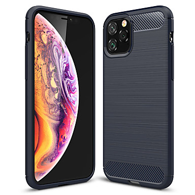 voordelige iPhone-hoesjes-hoesje Voor Apple iPhone 11 / iPhone 11 Pro / iPhone 11 Pro Max Mat Achterkant Effen TPU