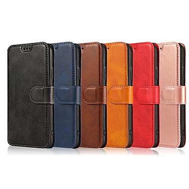 voordelige Galaxy J-serie hoesjes / covers-hoesje Voor Samsung Galaxy S9 / S9 Plus / S8 Plus Portemonnee / Kaarthouder / Flip Volledig hoesje Effen PU-nahka / TPU
