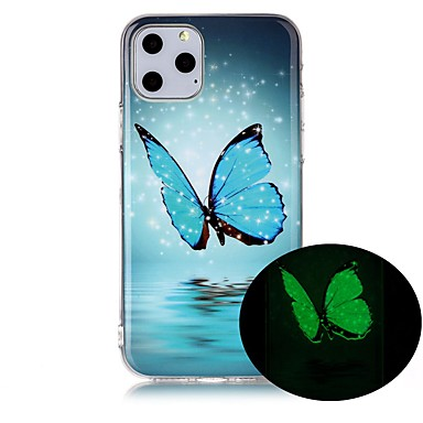 voordelige iPhone 5 hoesjes-hoesje voor Apple iPhone 11 / iPhone 11 Pro / iPhone 11 Pro Max Glow in the Dark / Ultradun / Patroon Achterkant Butterfly TPU voor Apple iPhone XS / X / 7/8 Plus / 6 / 6S Plus / 5 / 5S / SE