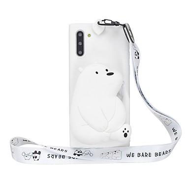 voordelige Galaxy Note-serie hoesjes / covers-hoesje Voor Samsung Galaxy Note 9 / Note 8 / Galaxy Note 10 Portemonnee / Patroon Achterkant 3D Cartoon TPU