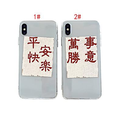 voordelige iPhone 7 hoesjes-hoesje Voor Apple iPhone XS / iPhone XR / iPhone XS Max Transparant / Patroon Achterkant Woord / tekst TPU