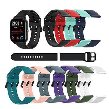 voordelige Smartwatch-accessoires-siliconen sport horlogeband band voor huami amazfit gts / amazfit bip / gtr 42mm maat s l