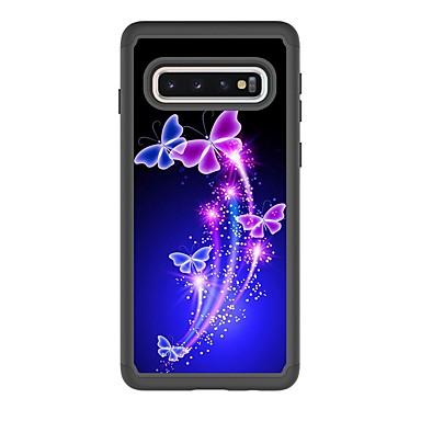 voordelige Galaxy S-serie hoesjes / covers-hoesje Voor Samsung Galaxy S9 / S9 Plus / S8 Plus Schokbestendig / Patroon Achterkant Vlinder PU-nahka