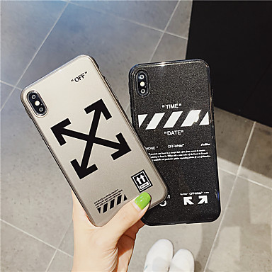 voordelige iPhone X hoesjes-glitter shine woord tpu-hoesje voor Apple iPhone 11 pro max 8 plus 7 plus 6 plus max patroon achterkant