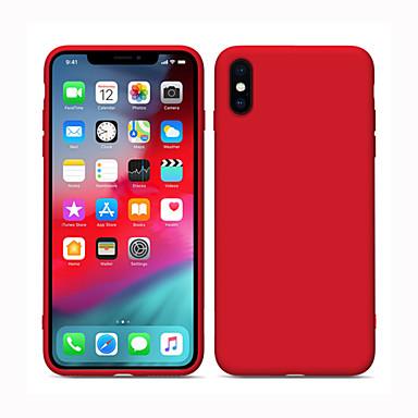 voordelige iPhone-hoesjes-hoesje Voor Apple iPhone 11 / iPhone 11 Pro / iPhone 11 Pro Max Mat Achterkant Effen silica Gel