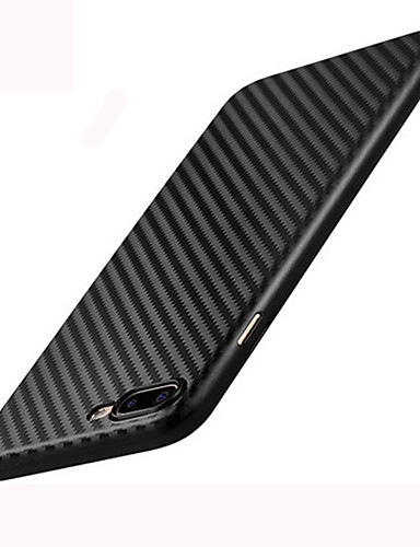 cheap iPhone Cases-Case For Apple iPhone 8 / iPhone 8 Plus Frosted Back Cover Lines / Waves Hard Carbon Fiber for iPhone 8 Plus / iPhone 8 / iPhone 7 Plus