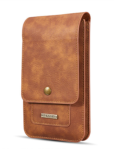 cheap Universal Cases & Bags-DG.MING Case For Samsung Galaxy Note 8 / Note 5 Wallet / Card Holder Pouch Bag Solid Colored Hard Genuine Leather for Note 8 / Note 5 Edge / Note 5
