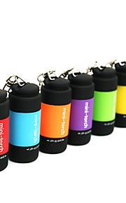 Torce a portachiavi LED 25lm 1 Modalità di illuminazione Mini / Impermeabile Uso quotidiano Rosso / Verde / Blu