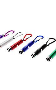 Chaveiros com Lanterna lm 1 Modo - para Campismo / Escursão / Espeleologismo Preto Cinzento Roxo Verde Azul