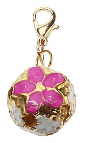 Katzen / Hunde Schilder Blume Gold Metall