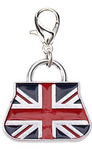 Dog tags England Flag Pattern Handbag Style Collar Charm for Dogs Cats