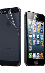 12X Clear Front and Back Screen Protector for iPhone 5
