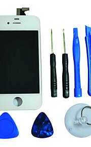 LCD näytön lasi kosketusnäyttö Digitizer kanssa Framee ja Assembly Työkalut iPhone 4S