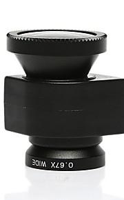 fisheye180도 렌즈 매크로 렌즈는 5 / 5S 블랙 아이폰 설정 3에서 1 0.67x 광각 렌즈