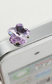 legering zirkon plomme blomst mønster anti-støv plugg (tilfeldige farger) diy for iphone 8 7 samsung galaxy s8 s7