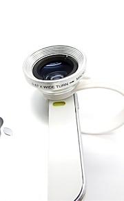 1 보편적 인 C 스타일의 클립 2 0.67X 광각 추가 기능 렌즈를 아이폰 / 핸드폰 용 매크로 렌즈와 함께