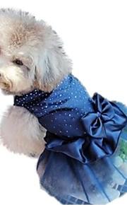 고양이 강아지 드레스 강아지 의류 시퀀 레드 블루 골든 나일론 코스츔 애완 동물 여성용 휴일 생일 웨딩
