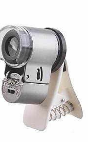 65X LED 헤드 라이트와 삼성 핸드폰 S3/S4/S5/N9000/N7100위한 UV 빛 확대 현미경